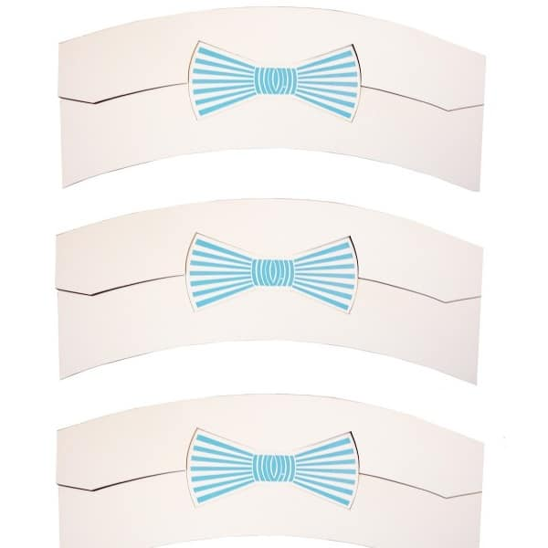Collar support bow tie