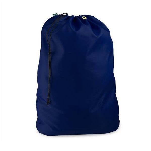 Drawstring Polyester Material Laundry Bag Navy Blue