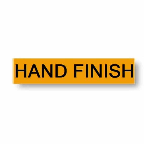 Hand Finish Instruction Tuff Tape