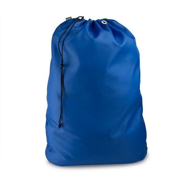 Laundry Material Bags Royal Blue Drawstring Closure