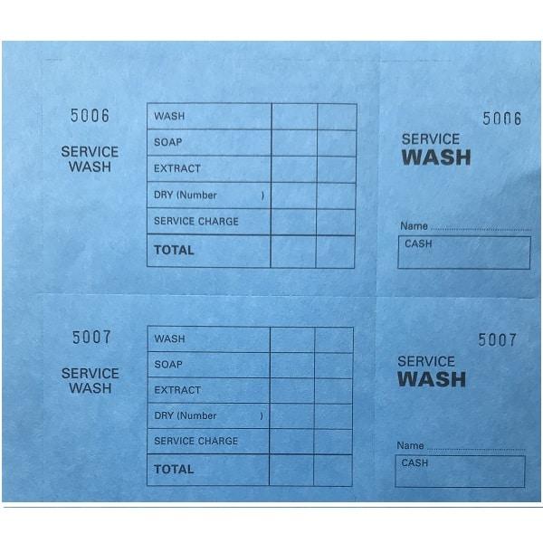 Laundry Service Wash Ticket Books Blue