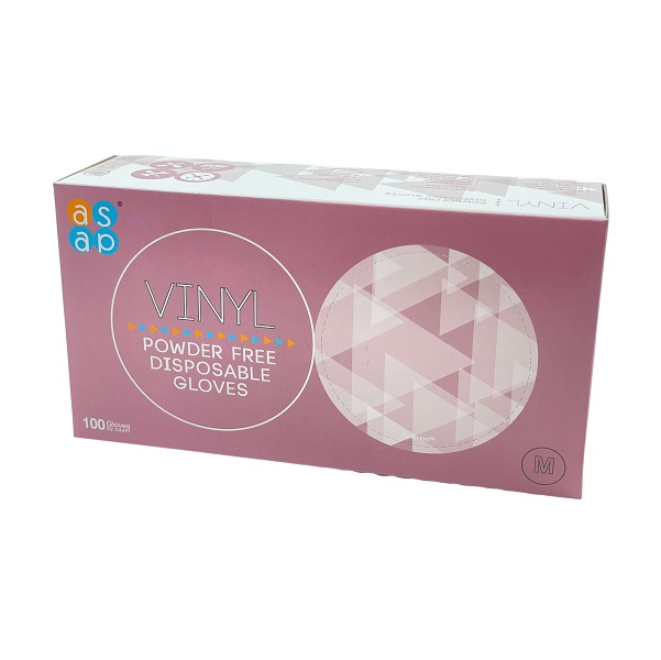 Medium Size Powder Free Vinyl Gloves Box of 100