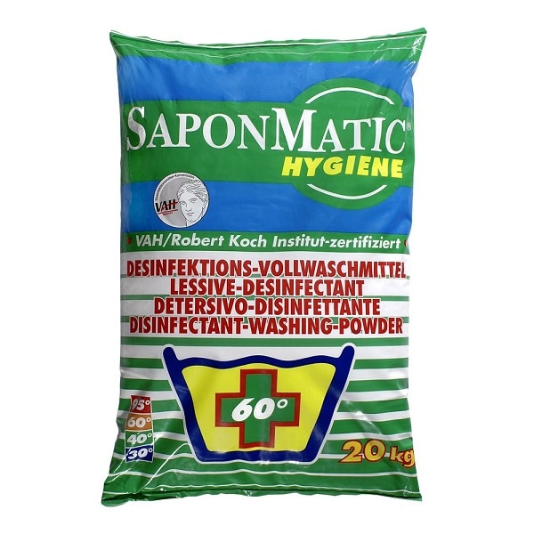 Saponmatic Hygiene Non Biological Disinfectant Washing Powder 20kg from Roesch