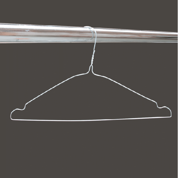 Silver notched wire hangers 16 inches 13 gauge from MEVO