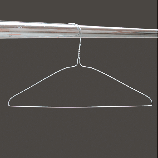Silver wire hangers 16 inches 13 gauge from MEVO