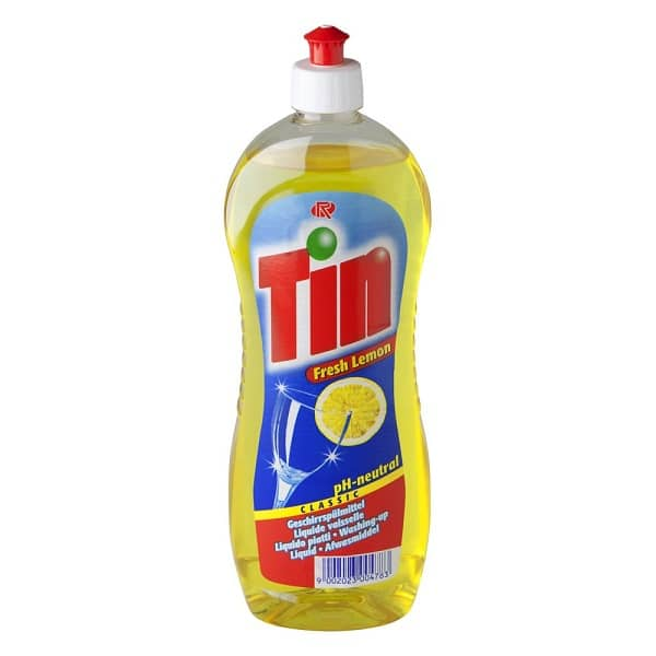 Washing Up Liquid Tin Fresh Lemon ONLY 99c+VAT!
