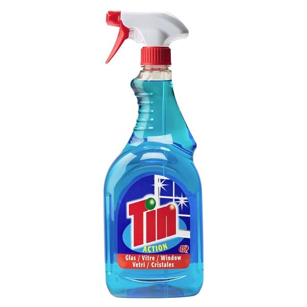 Glass and Window Cleaner Trigger Spray Tin 1 litre Only €1.15+VAT!
