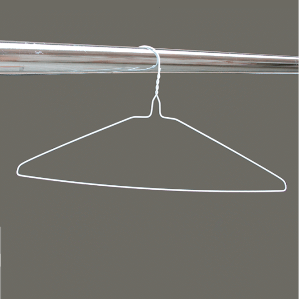 White plain wire hangers 16 inches 13 gauge