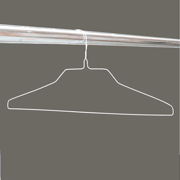 White wire shirt hangers 18 inches 14.5 gauge