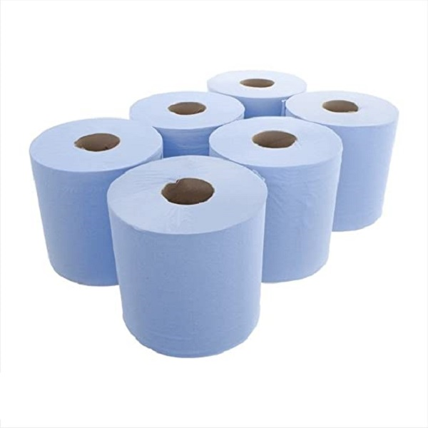 Blue Centrefeed Rolls pack of 6 bulk buy online now